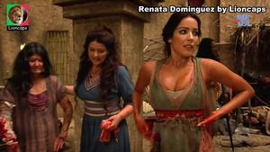 Renata Dominguez sensual na novela Rei Davi
