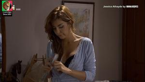 Jessica Athayde sensual na serie Mulheres