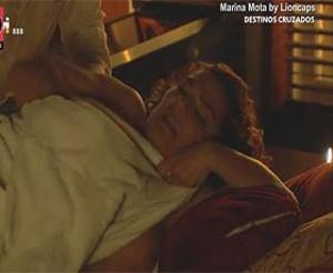 Marina Mota ooops na novela Destinos cruzados