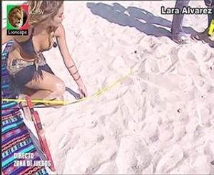 Lara Alvarez sexy in Supervivientes