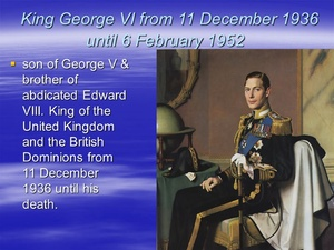 Former King of the United Kingdom,George VI.jpg