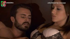 Julia Belard sensual na novela Deixe que te leve e na serie Agua de Mar