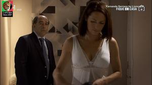 Fernanda Serrano sensual na serie Mulheres