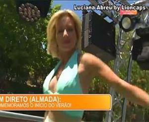 Luciana Abreu supr sensual na festa de verão da Sic