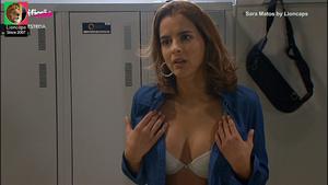 Sara Matos sensual na novela O Beijo do escorpião