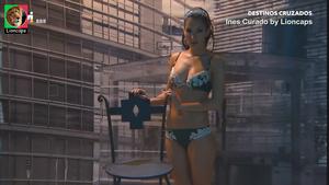 Ines Curado sensual na novela Destinos Cruzados