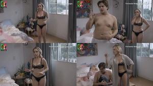 Fernanda Nobre sensual em lingerie na serie Prata da Casa
