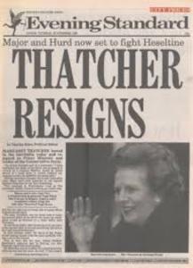 Margaret Thatcher resigns.jpg