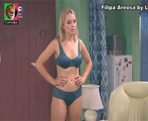 Filipa Areosa sensual em lingerie na novela Nazare