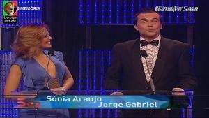 Sonia Araujo sensual na Gala dos 50 anos da Rtp