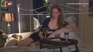 Camila Morgado sensual na novela Viver a Vida