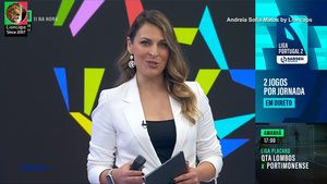 Andreia Sofia Matos sensual no Canal 11