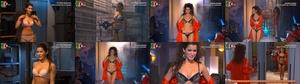 Ines Curado super sensual em lingerie na novela Destinos Cruzados