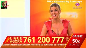 Kika Cardoso sensual a apresentar o 1000 à hora