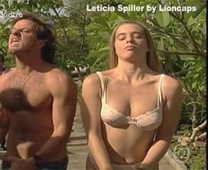 Leticia Spiller sensual na novela Quatro por quatro