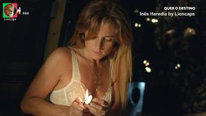 Ines Heredia sensual na novela Quer o Destino