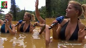 Sónia Araujo sensual em biquini na Rtp em São Miguel