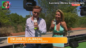 Luciana Abreu sensual na festa de Vero da Sic