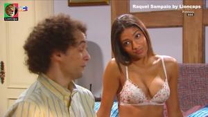 Raquel Sampaio sensual em lingerie na novela Nazare