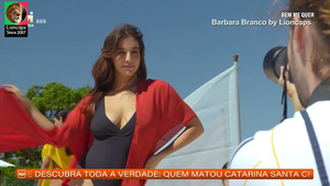 Barbara Branco sensual na novela Bem me Quer