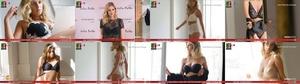 Julia Palha sensuall como modelo da Intimissimi
