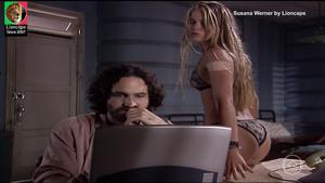 Susana Werner sensual na novela Um anjo caiu do céu