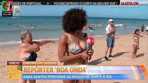 Sara Santos sensual na Cmtv